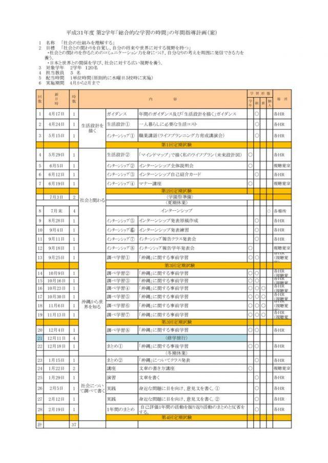 H31 2年 総学計画のサムネイル